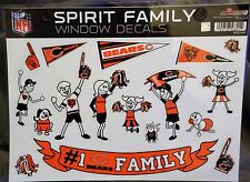 NFL SPIRIT FAMILY DECALS!!  CHICAGO BEARS- New