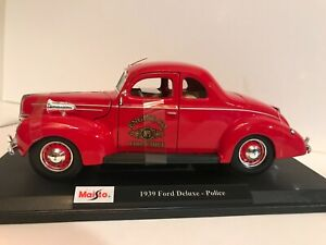 MAISTO 2020 SPECIAL EDITION 1939 FORD DELUXE POLICE FIRE CHIEF EXCLUSIVE STYLE