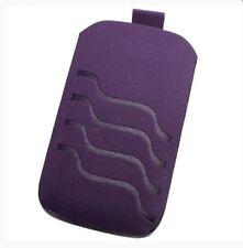 Housse Etui Pochette Protection façon nubuck violet pour ALCATEL Pixi 4 (4)