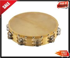 Round 10 Inch Tambourine 18 Jingles Full Circle Durable Quality Sound Head Drum