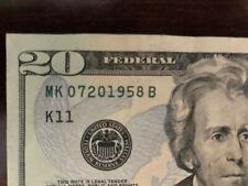 Unique Birthday Present! Born July 20, 1958! A correct date $20 note!!