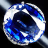 AAA VIOLET BLUE TANZANITE RING OVAL 26 CT.SAPPHIRE 925 STERLING SILVER SIZE 6.5