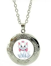 Disney Marie Necklace marbel locket The Aristrocats with gift poch birthday LC14