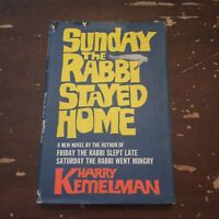 1969 Sunday The Rabbi Stayed Home by Harry Kemelman Hardcover with DJ