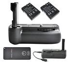 Pro Battery Grip Holder For Nikon D3100 D5100 DSLR Camera + 2 x EN-EL14 Battery