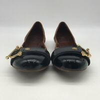 Tory Burch Brown & Black Flats Size 9.5M