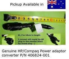 Geniune HP/Compaq laptop Power Adapter Converter old plug to black tipped plug