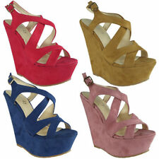 Look Wedge Shoes for Women's Faux Suede