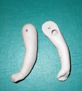 """Antique porcelain dollhouse doll arms, wire fixing, 2.19"""", 5,56 cm, doll repair"""