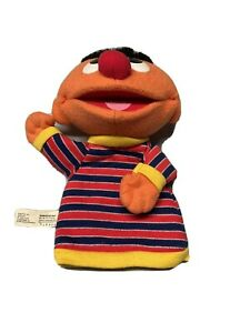 Fisher Price Sesame Street Ernie Hand Puppet Plush Stuffed Animal Toy 2004