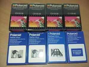 8x rare Polachrome Polapan Polablue 35mm films vintage expired retro historical