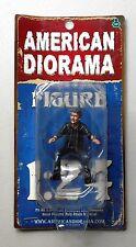 "Biker Bull Dog American Diorama 1:24 Scale Figurine 3"" Man Guy Male Figure"