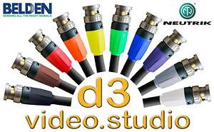 Lang HD Sdi Video Belden 1694f Flexibel Kabel Neutrik UHD BNC Tricaster Bmd