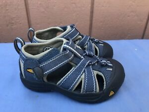 NEW KEEN Newport Toddler US 6 EUR 22 Blue Canvas Premium Water Shoes Sandals A7