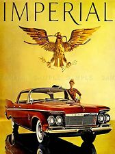 ADVERTISING 1961 IMPERIAL CAR AUTOMOBILE RED ART POSTER PRINT LV486