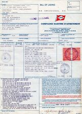 1994 India Bill of Landing with most attractive Revenue franking.