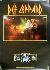 RARE DEF LEPPARD 1984 VINTAGE RECORD MUSIC STORE PROMO POSTER