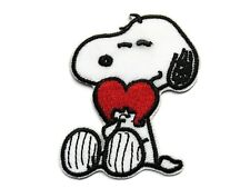 Snoopy Beagle Dog with Heart Embroidered Iron On Patch Applique 2.5 Inch