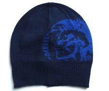 TESCHIO blu scuro più DIESEL A Coste Logo Cappello Beanie del momento  Taglia unica unisex Solido Nuovo bc71ee6e51c6