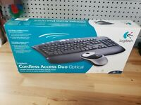 Logitech Cordless Access Duo Optical Keyboard & Mouse 967283-0403 SEALED NEW