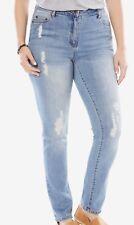 eb1e93f5b89 Woman Within Stretch Skinny Jean 22W Tall Distressed Blue