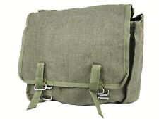 ARMY CANVAS HAVERSACK Military bag Indiana Jones satchel Olive belt ammo pockets