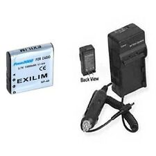 NP-40 NP-40DBA Battery + Charger for Casio EX-Z750 EX-Z850 EX-Z1000