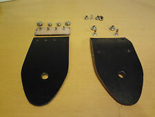 Replacement Guitar Strap Ends for Ace Straps Bobby Lee Straps - Black