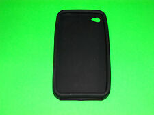 BLACK SILICONE CASE SKIN COVER FOR APPLE IPHONE 4 4S 16 32 64 G