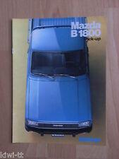 MAZDA B 1800 PICK-UP prospetto/brochure/DEPLIANT, N, 12.1981