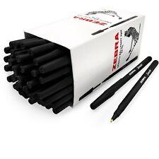 Zebra Smooth Stick Ballpoint Pens - 0.7mm Nib - Black - Pack of 50