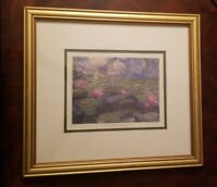 Claude Monet Nympheas II Flowers Wall Picture Gold Framed Art Print