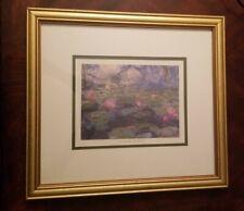 Claude Monet Nympheas II Flowers Wall Picture Gold Framed Art Print