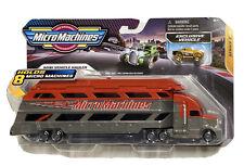MICRO MACHINES ~ MINI VEHICLE HAULER ~2020~SERIES 2 ~Red&Grey Hauler/Truck