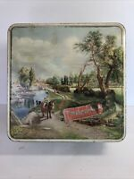 RARE Vintage Huntley Palmer Metal Biscuit Tin London Scenes England Container