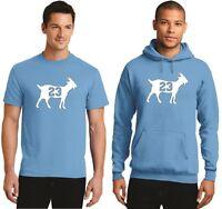 New Goat 23 Michael Jordan T-Shirt Hoodie North Carolina Tarheels Basketball