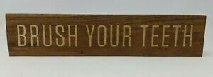 'Brush Your Teeth' Bathroom Wall Sign - Hearth & Hand with Magnolia - Wood Grain