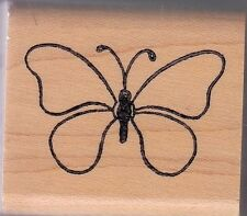"""New listing butterfly 9039E holly berry house Wood Mounted Rubber Stamp 1 1/2 x 1 1/2"""""""
