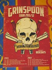 GRINSPOON - 2011/2012  AUSTRALIAN TOUR -  LAMINATED PROMO TOUR POSTER