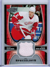 05/06 UD POWERPLAY DERIAN HATCHER TS-HA THE SPECIALISTS JERSEY DETROIT RED WINGS