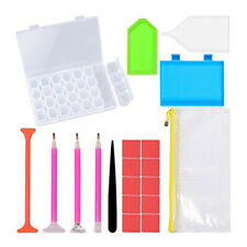 DIY Diamond Painting Tools Set Pen Glue Plastic Tray Set Embroidery Cross C5O6