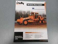 Leeboy 785 Motor Grader Color Sales Brochure 4 Pages