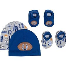 Indianapolis Colts NFL Infant/Baby Boys/Girls 4pc Hat and Booties Set