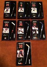 Complete Set of 7 Oilers Mini Stick Ebs Hall Nuge Khabi Moog Cujo Ranford Loose