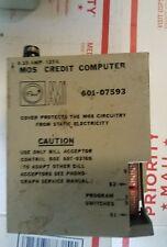 Rowe AMI jukebox  mos Credit computer 601 - 07593 untested