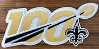 "2019 100th ANNIVERSARY SEASON NEW ORLEANS SAINTS NFL SHIELD PATCH 5"" 100 IRON ON"