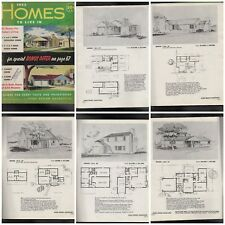 HOMES TO LIVE IN MODERN VINTAGE HOUSE PLANS 1950S ATOMIC RANCH STYLE HTF UNIQUE
