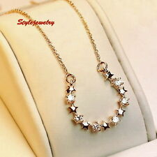 Alloy Crystal Yellow Gold Fashion Necklaces & Pendants