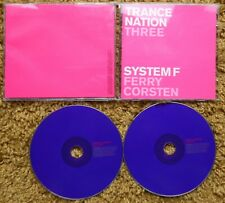 TRANCE NATION THREE SYSTEM F FERRY CORSTEN  2CDS EXCELLENT