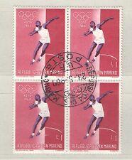 Q8292 - S. MARINO 1960 - QUARTINA USATA OLIMPIADI N°520 - VEDI FOTO